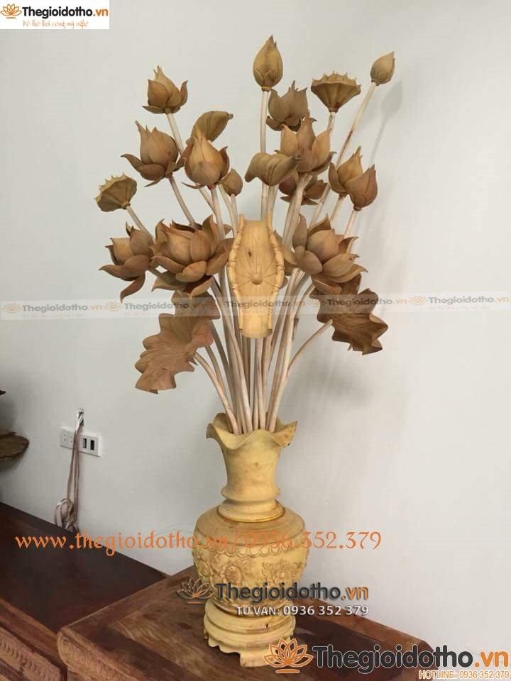 mua hoa sen thờ gỗ mít đẹp ở đâu